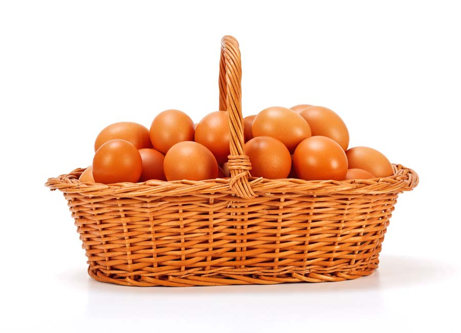 Eggs in basket | Complete Cleaning Contracts Edinburgh